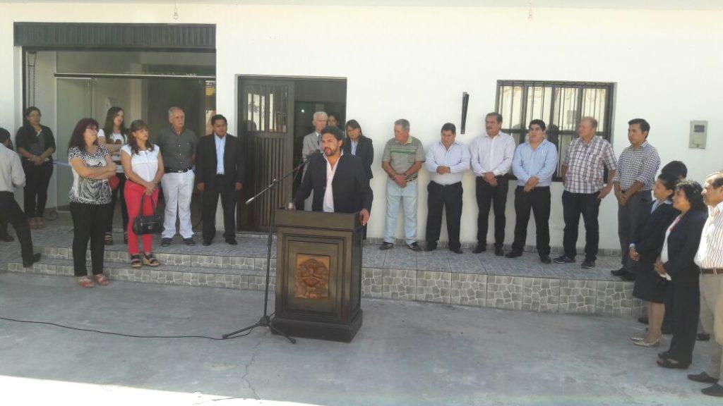 Inauguración del edificio del Registro Civil en Monterrico