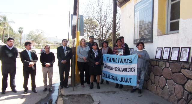 Rindieron homenaje a los Detenidos, Desaparecidos de Calilegua y Libertador Gral San Martín.