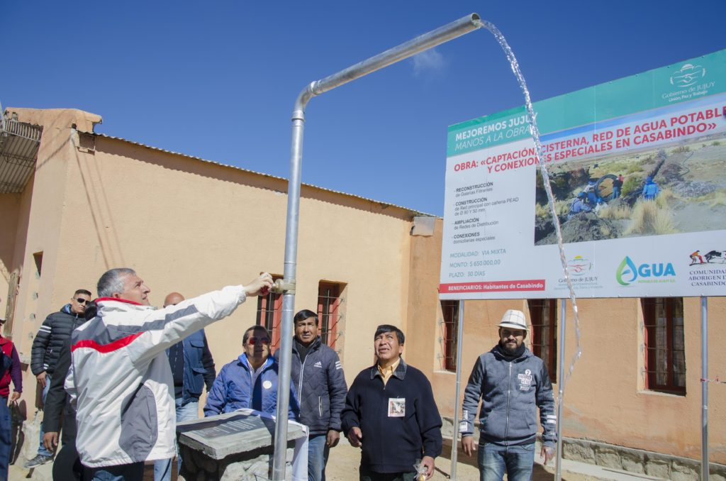 Morales inauguró un sistema de agua potable en Casabindo.